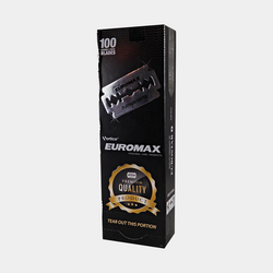 EUROMAX Platinum | Double Edge Razor Blades | Premium Safety DE | Pack of (100)