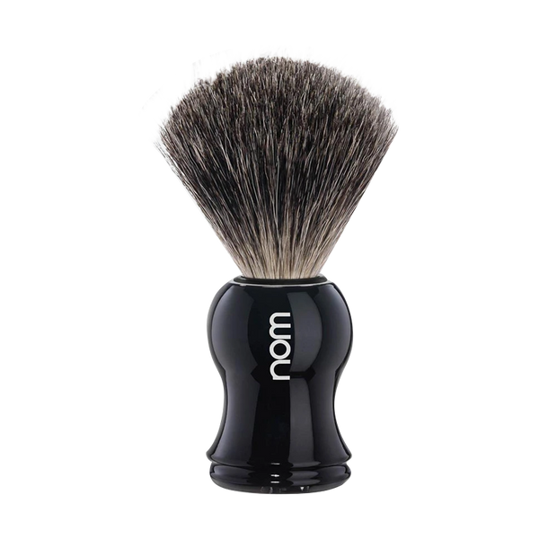 NOM by Muhle Pure Badger Black Shaving Brush