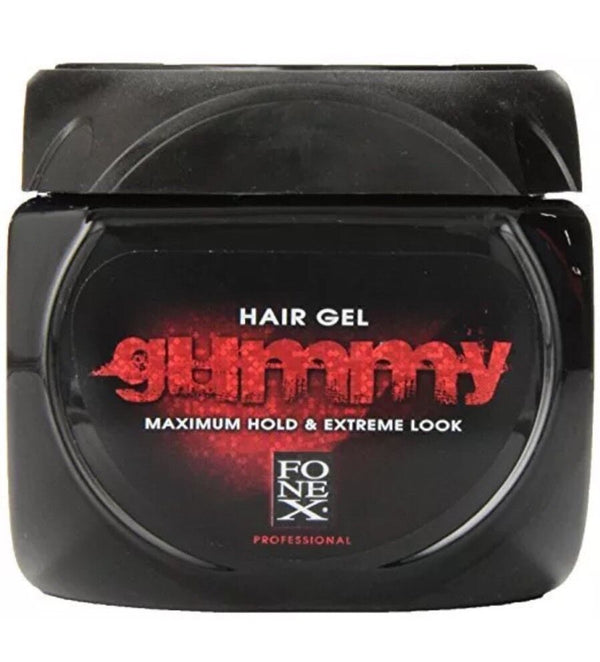 Fonex Gummy Regular Hair Gel Alcohol Free Maximum Hold & Extreme Look 220ml - Barbersupplies & Co