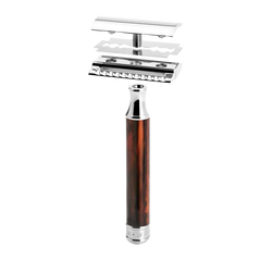 Muhle Traditional R108 / Closed Comb Safety Razor / Tortoiseshell Resin