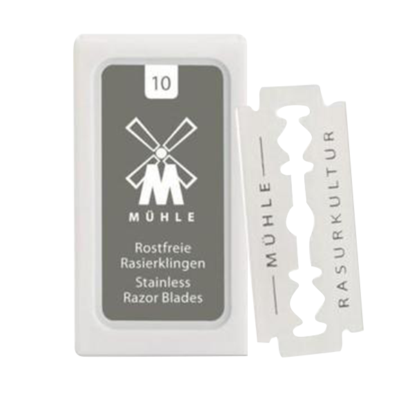 Muhle Stainless Steel Double Edge Safety Razor Blades | 10 Count