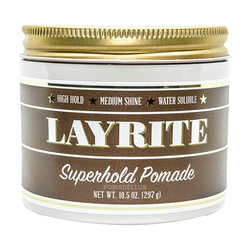 Layrite Deluxe | Superhold Pomade | Men's Hair Pomade | 297gr 10.5oz | Large Pot