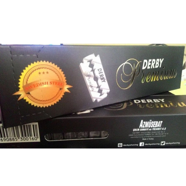 Derby Premium Double Edge Blades (50) DE Safety Razor - Barbersupplies & Co