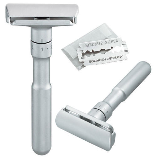Merkur Futur Adjustable Satin Chrome Double Edge Safety Razor