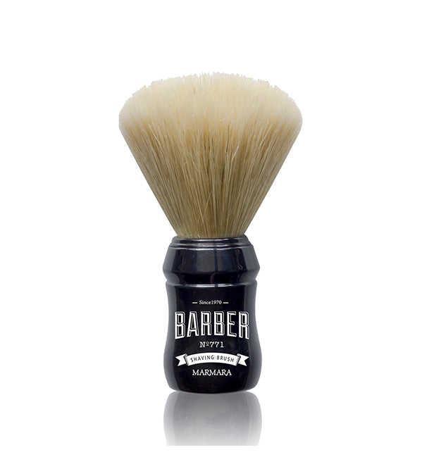 Marmara Barber | Boar Bristle Wood Shaving Brush | Black Handle