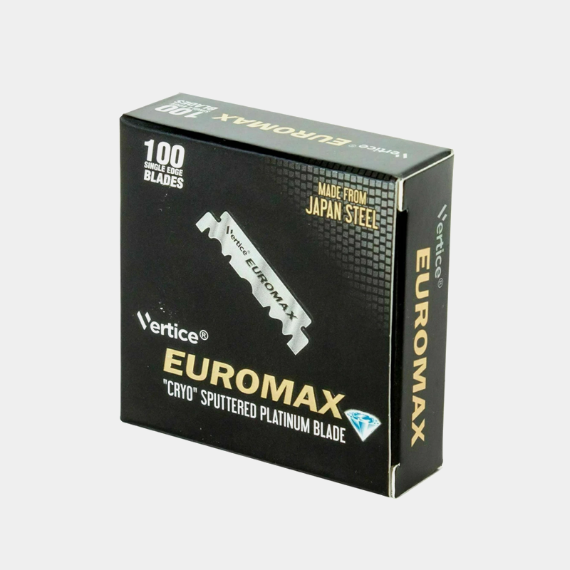 EUROMAX Professional Platinum Single Edge Razor Blades Pack of 100