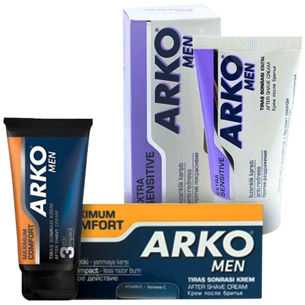 Arko Men's Extra Sensitive or Maximum Comfort After Shave Cream 50ml - Barbersupplies & Co