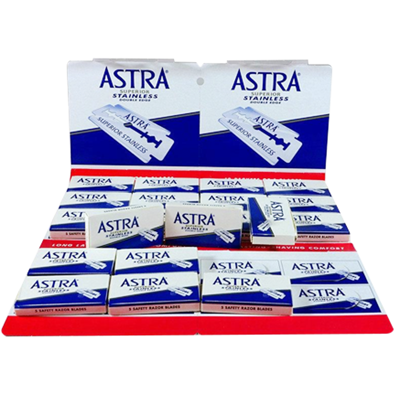 Astra Super Stainless Double Edge Razor Blades Pack Of 100 - Barbersupplies & Co