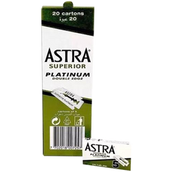 Astra Superior Platinum Double Edge Razor Blades - Barbersupplies & Co
