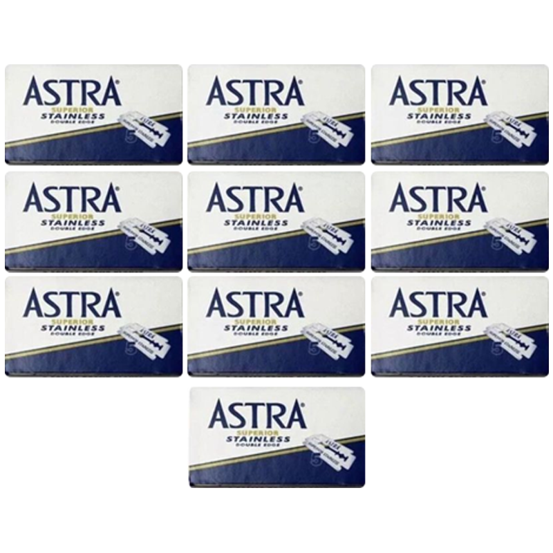 Astra Superior Stainless Double Edge Blades (50) - Barbersupplies & Co