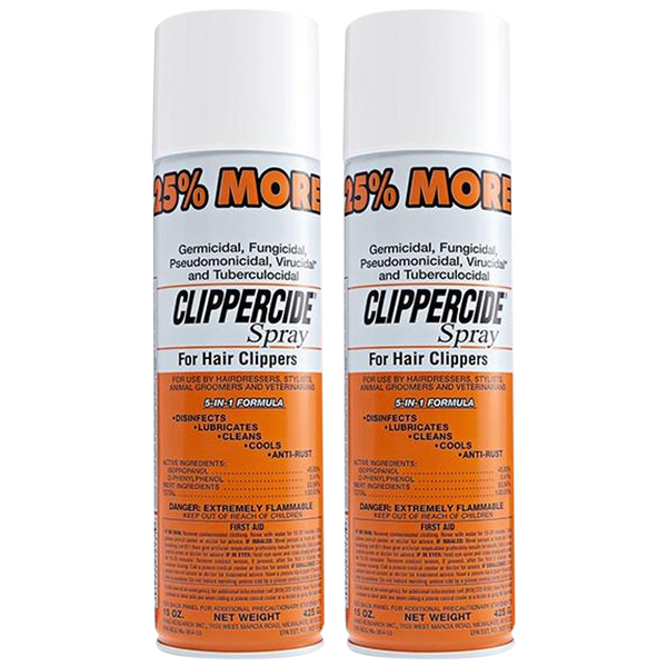 Clippercide Spray for Hair Clippers 5-in-1 Formula 425g in 2X or 4X - Barbersupplies & Co