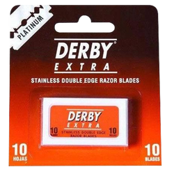 Derby Extra Double Edge Platinum Razor Blades Pack Of 10 - Barbersupplies & Co