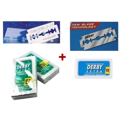 Derby Extra Double Edge Razor Blades Blue + Green Pack of 60 - Barbersupplies & Co