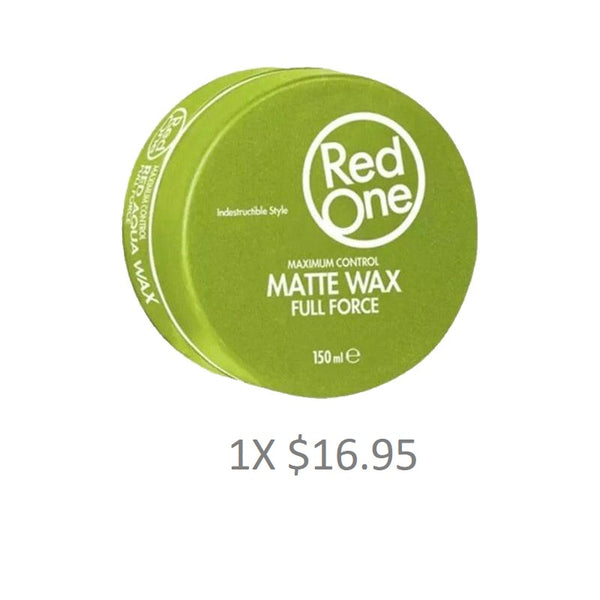 Red One Matte Wax Style Force 150ml - Barbersupplies & Co