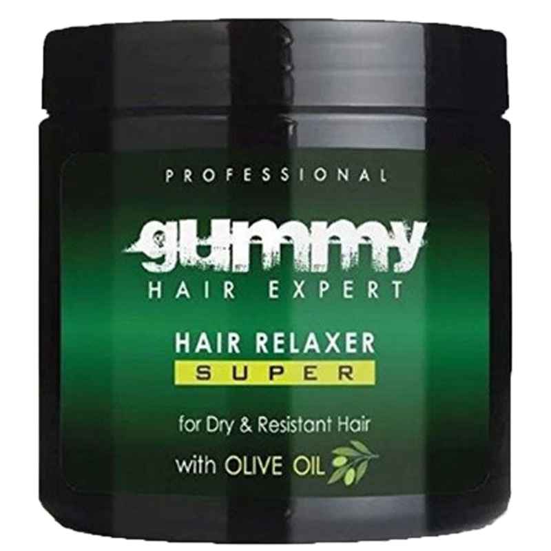 Gummy Hair Relaxer Super-Olive Oil for Dry & Resistant Hair 550ml - Barbersupplies & Co