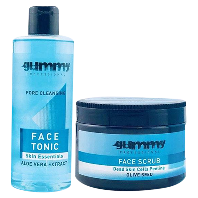 Gummy Professional Skin Care Treatment Kit -Face Scrub & Face Tonic - Barbersupplies & Co