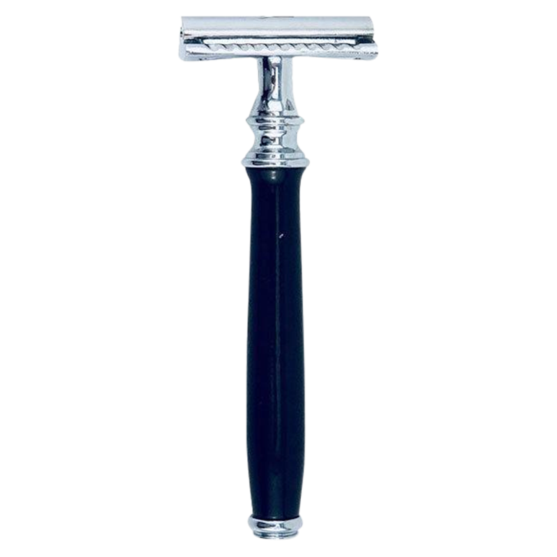 Keen Traditional Double Edge Open Comb Safety Razor Black Handle - Barbersupplies & Co