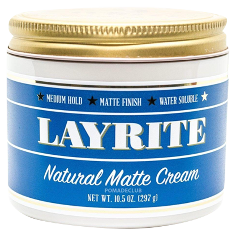 Layrite Natural Matte Cream Pomade 113gr - Barbersupplies & Co