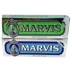 Marvis Toothpaste Double Pack in Aquatic Mint & Strong Mint or Ginger Mint & Jasmin Mint - Barbersupplies & Co
