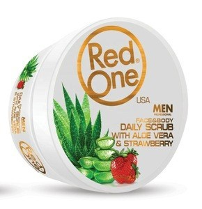 RedOne | Face & Body Daily Scrub | Aloe Vera & Strawberry 450ml