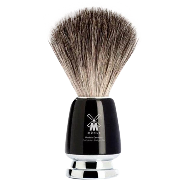 Muhle Rytmo Pure Badger Hair Shaving Brush w/ Black Resin Handle - Barbersupplies & Co