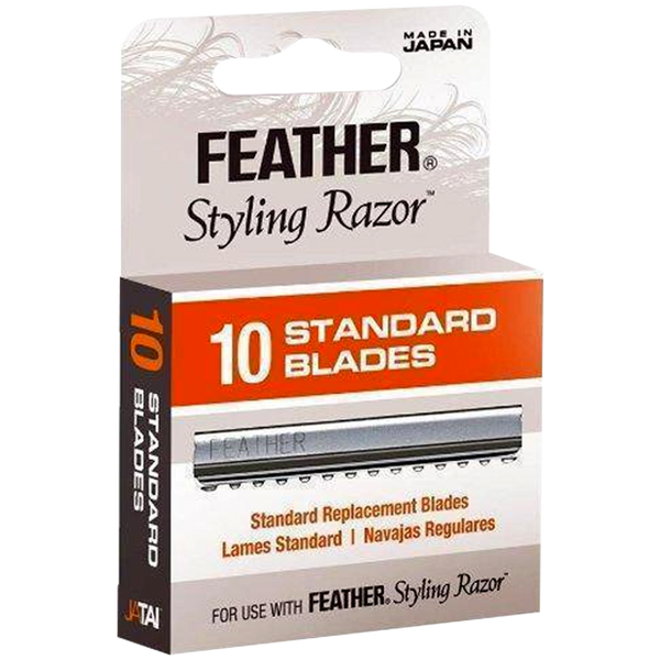 NEW Jatai Feather Styling Razor Standard Replacement Blades 10pcs F1-20-100 - Barbersupplies & Co