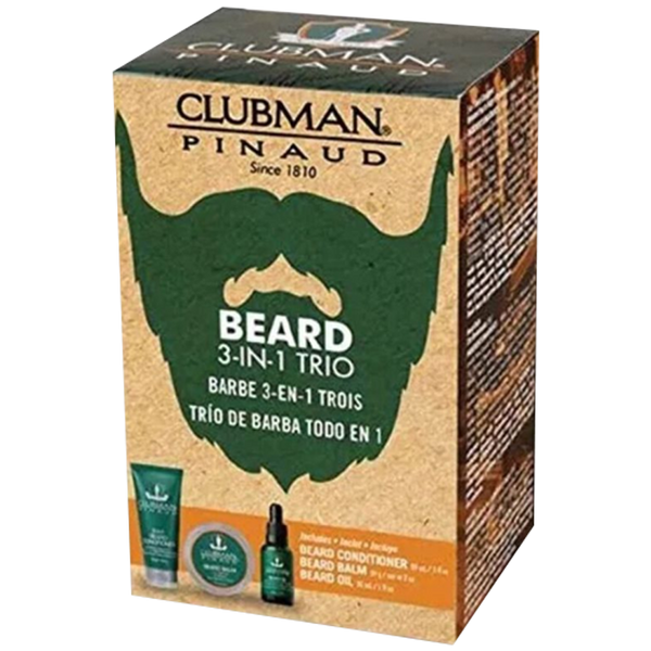 Pinaud Clubman 3-in-1 Beard Trio Gift Set - Barbersupplies & Co