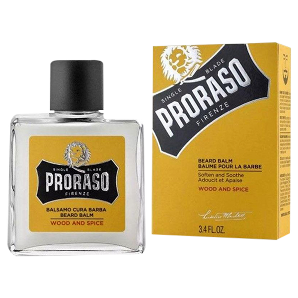 Proraso Beard Balm Wood and Spice 100 ml. - Barbersupplies & Co