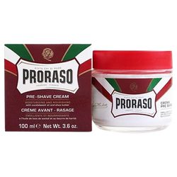 Proraso Pre-Shave Cream 100ml in Green Tea & Oatmeal (White) or Sandalwood Oil & Shea Butter (Red) - Barbersupplies & Co
