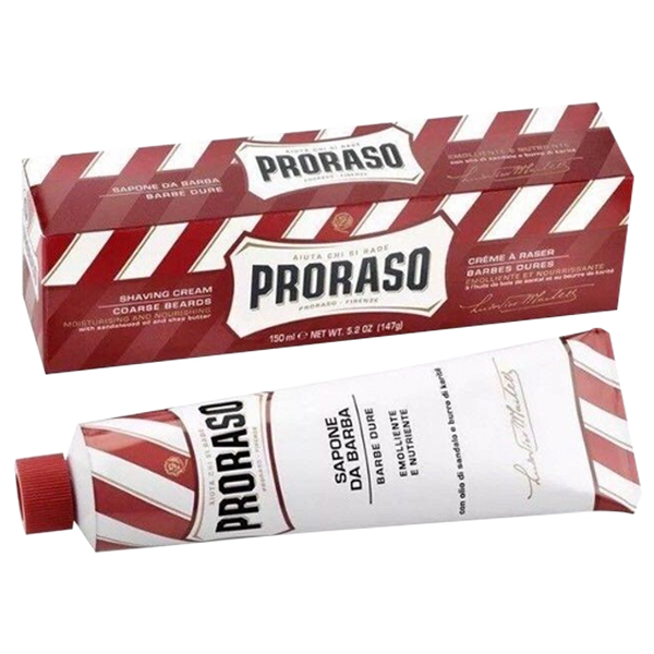 Proraso Shaving Cream Sandalwood & Shea Butter Tube 150ml - Barbersupplies & Co