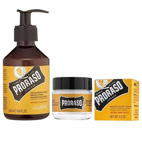 Proraso Wood & Spice Beard Care Set - Barbersupplies & Co