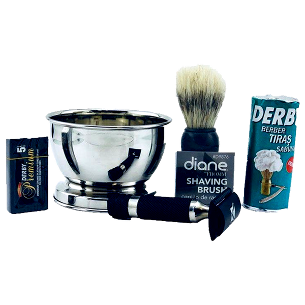Quality Complete Shaving Kit Derby/Diane/Keen- Ideal For Beginners - Barbersupplies & Co