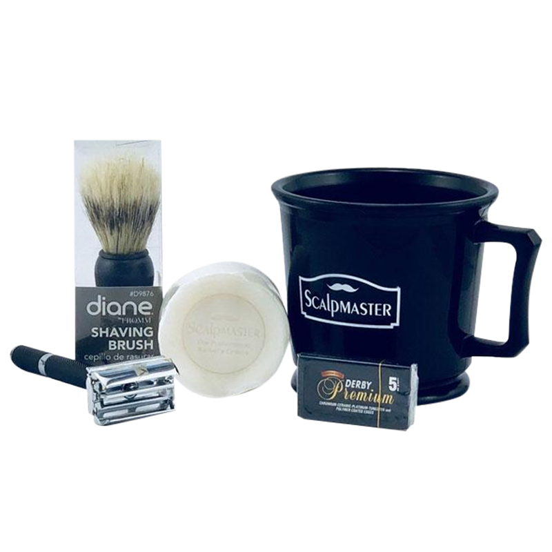 Quality Complete Shaving Kit Scalpmaster/Derby/Diane - Ideal For Beginners - Barbersupplies & Co