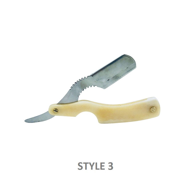 Real Bone Scale Straight Barber Razor - Barbersupplies & Co