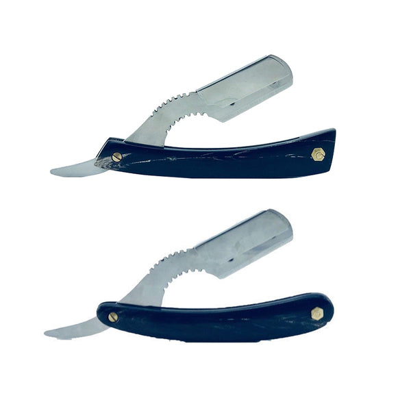 Real Horn Scale Straight Barber Razor in 2 Different Styles - Barbersupplies & Co