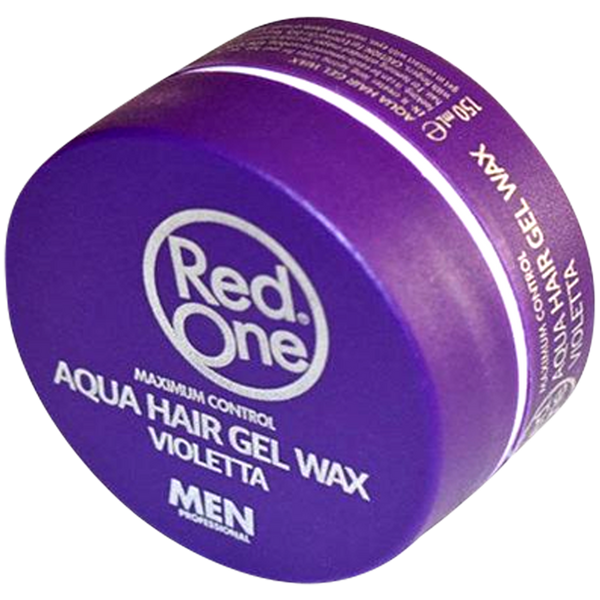 Red One Purple Aqua Hair Gel Wax Maximum Control - Barbersupplies & Co