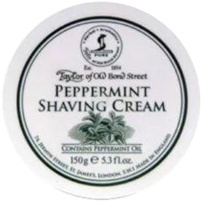 Taylor of Old Bond Street (TOBS) Peppermint Shaving Cream Bowl 150g - Barbersupplies & Co