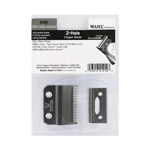 WAHL 2-Hole Wedge Blades Blade Set WA2228-400 Legend Clipper incl. oil & screws