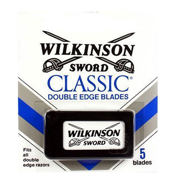 Wilkinson Sword Classic Double Edge Razor Blades - Pack 5 Blades - Barbersupplies & Co