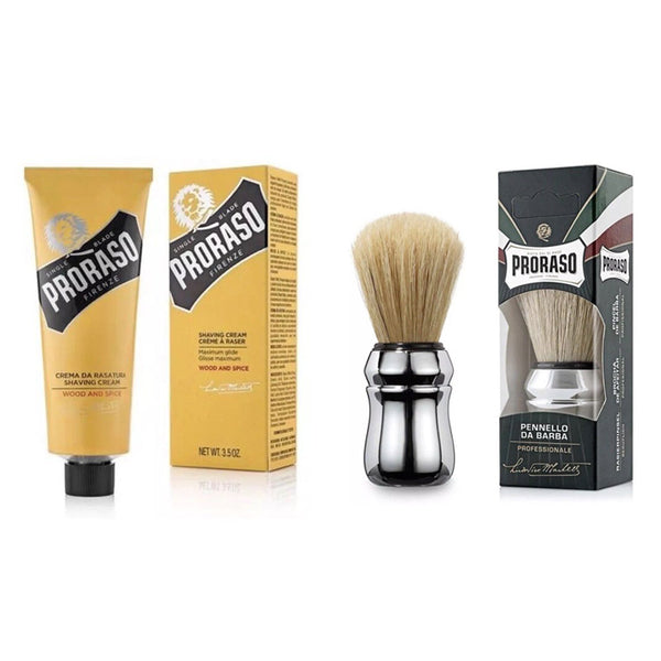 Proraso Single Blade Shaving Set/Shaving Cream - Barbersupplies & Co