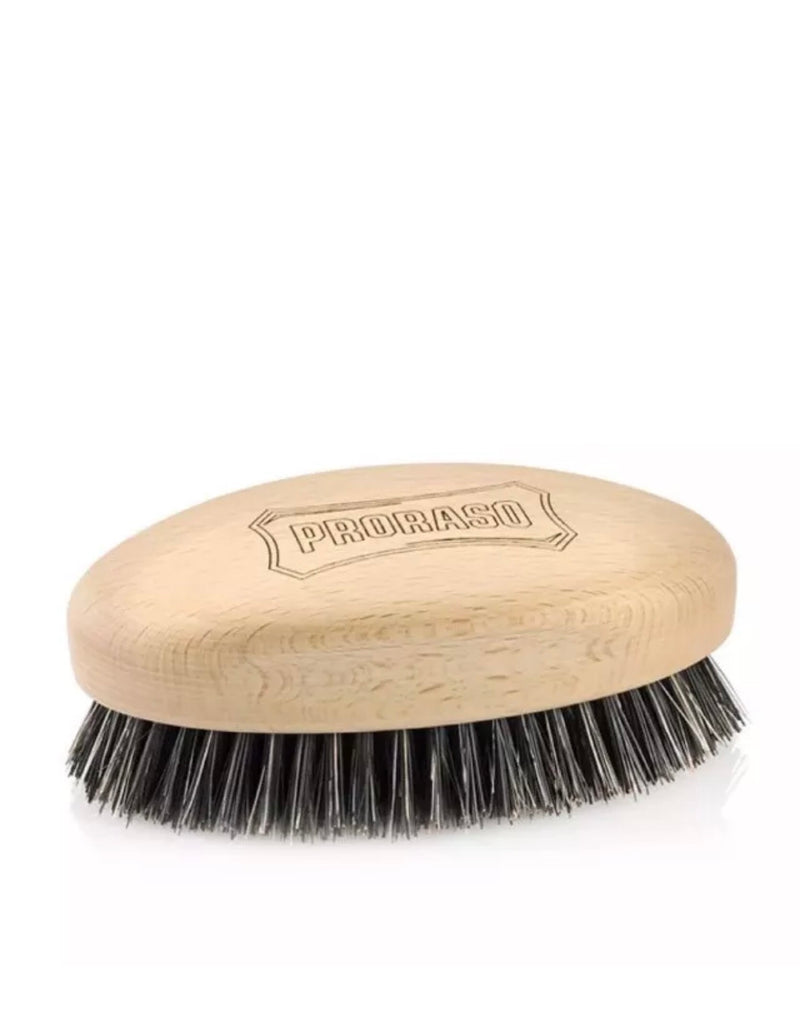 Proraso Military Style Nylon & Boar Beard Brush Wooden Hold - Barbersupplies & Co