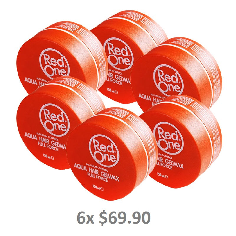 Red One Orange Aqua Hair Gel Wax Full Force - Barbersupplies & Co