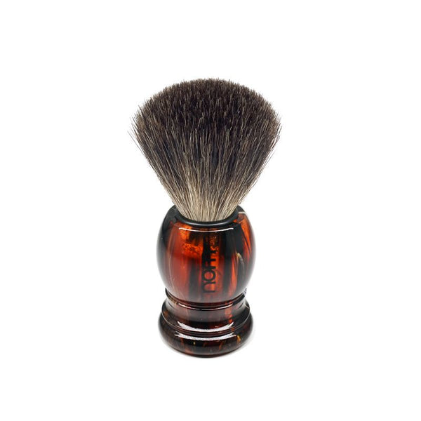 NOM by Muhle Pure Badger | Tortoise Shell Handle | Shaving Brush