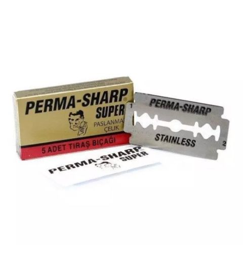 Perma-Sharp Barber Super Double Edge Razor Blades Hanging Card – Pack Of 100 - Barbersupplies & Co