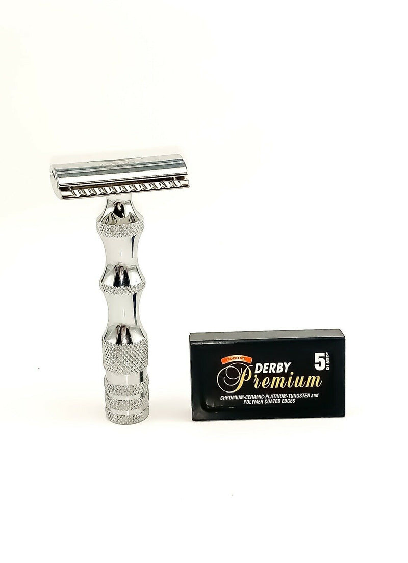 Keen Traditional Double Edge Open Comb Short Handle Safety Razor