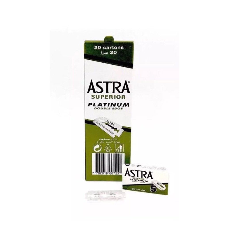 Astra Superior Platinum Double Edge Blades - Barbersupplies & Co