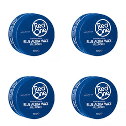 4 X Red One Blue AQUA HAIR WAX Each One 150 ML Full Force