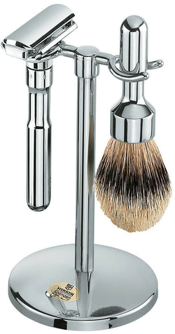 Merkur Futur | 3 Piece Shaving Set | Polished Chrome (781 001)