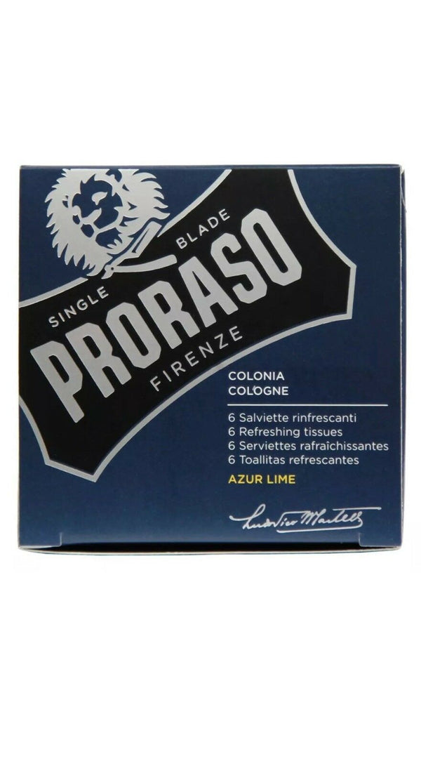 Proraso Azur Lime Refreshing Tissues Wipes (6-pack)