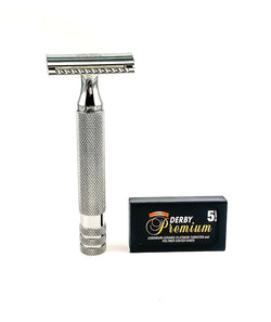 Keen Traditional Double Edge Open Comb Long Handle Safety Razor